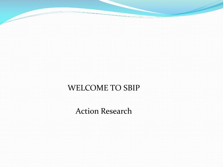 WELCOME TO SBIP