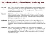 2011 characteristics of panel farms producing rice1