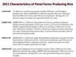 2011 characteristics of panel farms producing rice2