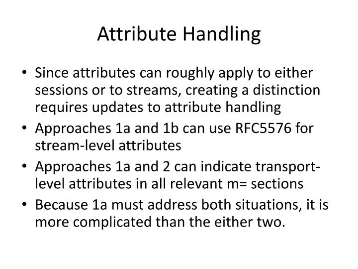 Attribute Handling