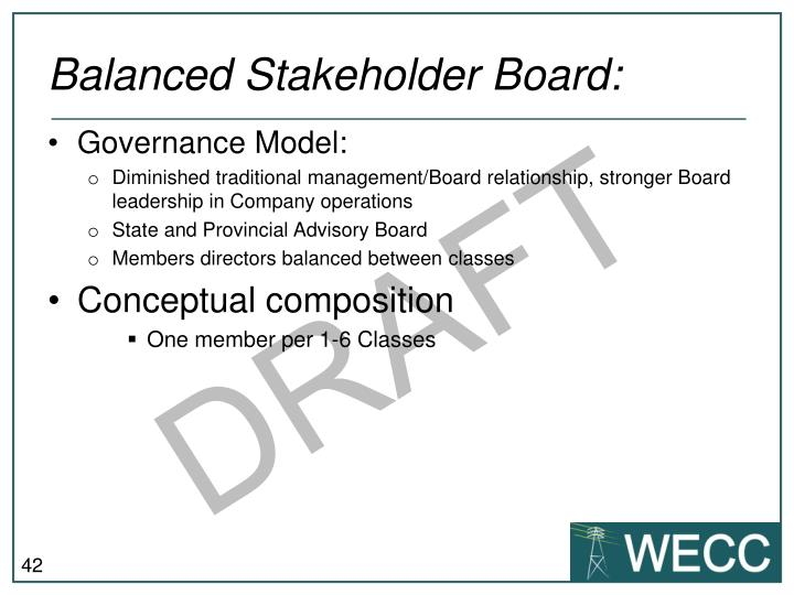 Balanced Stakeholder Board: