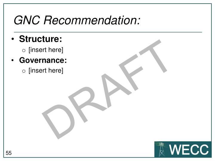 GNC Recommendation: