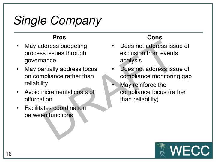 Single Company