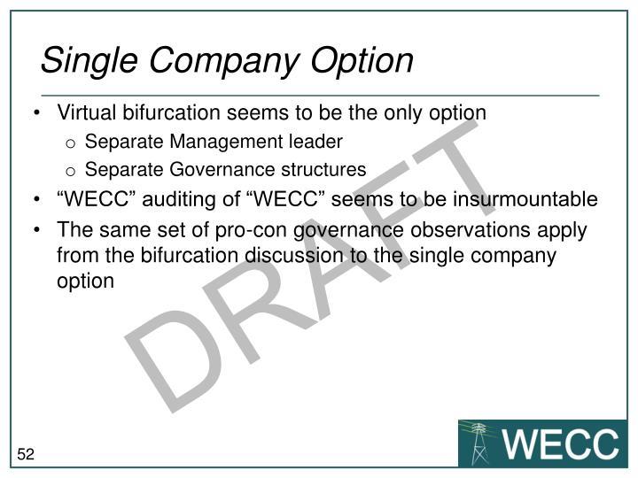 Single Company Option