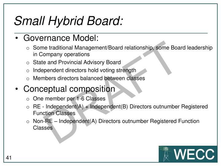 Small Hybrid Board: