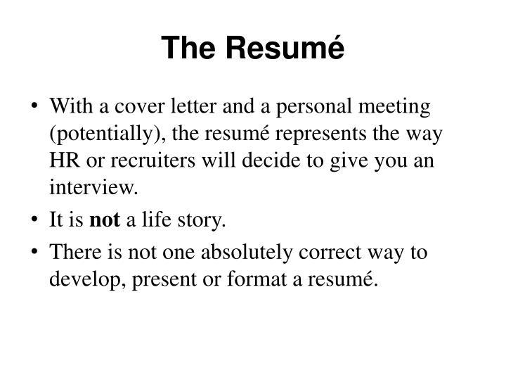 The resum