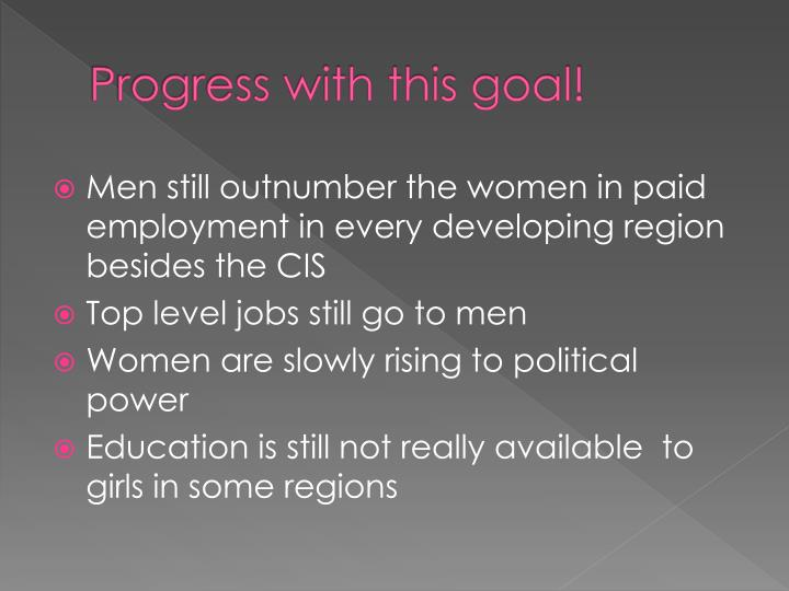 Progress with this goal!
