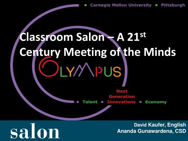 classroom salon a 21 st century meeting of the minds