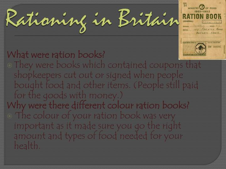 Rationing in Britain
