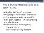 why did china introduce a one child policy in 1979