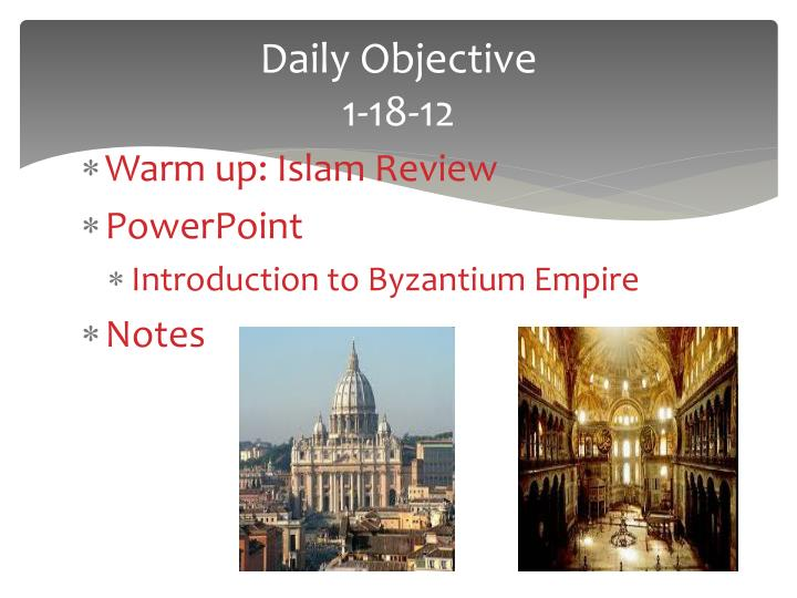 Daily objective 1 18 12