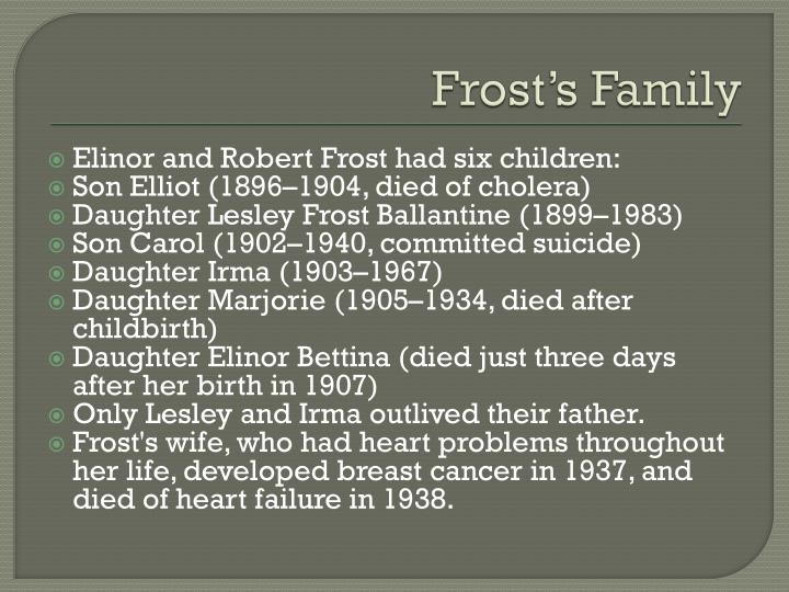 Frost's Family