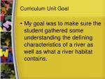 curriculum unit goal
