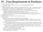 iv class requirements purchases
