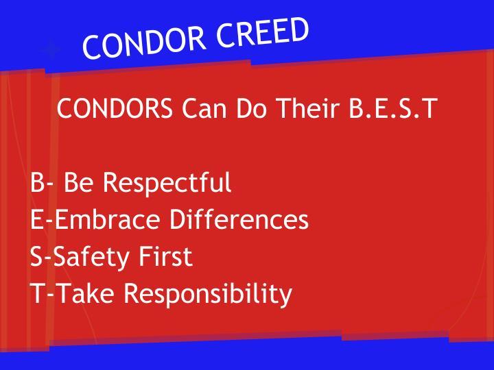 CONDOR CREED