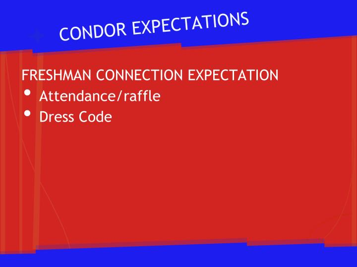 CONDOR EXPECTATIONS