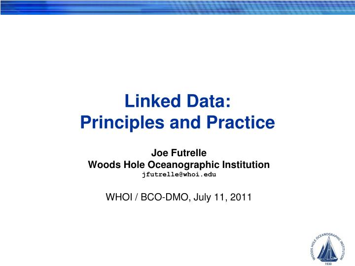 Linked data principles and practice