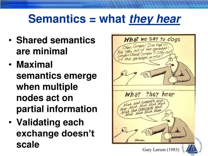 Semantics = what