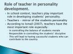 role of teacher in personality development