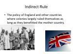 indirect rule