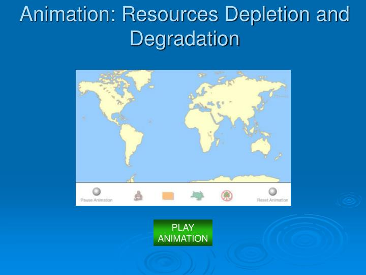 Animation: Resources Depletion and Degradation
