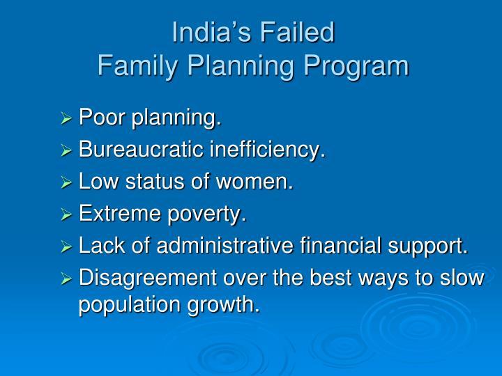 India's Failed