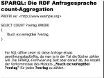 sparql die rdf anfragesprache count aggregation