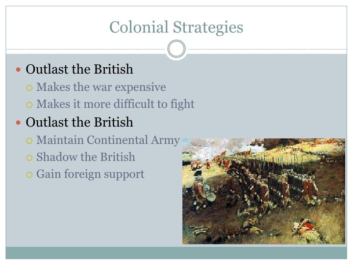 Colonial Strategies