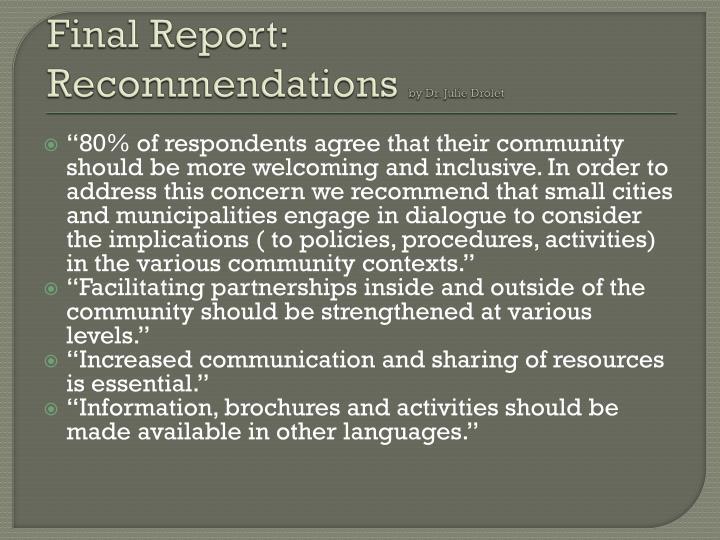 Final Report: