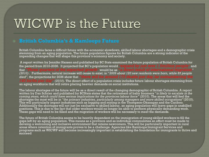Wicwp is the future