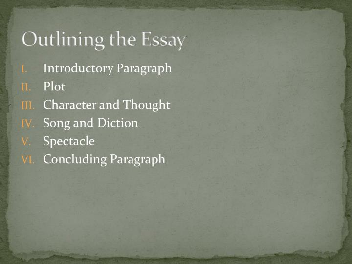 Outlining the Essay