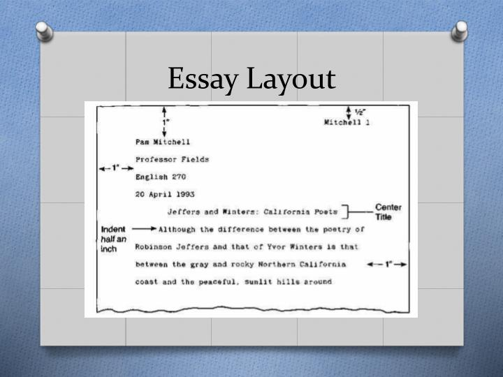research essay layout The basic outline of a paper the following outline shows a basic format for most academic papers no matter what length the paper needs to be, it should still follow the format of having an introduction, body, and conclusion.