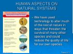human aspects on natural systems1