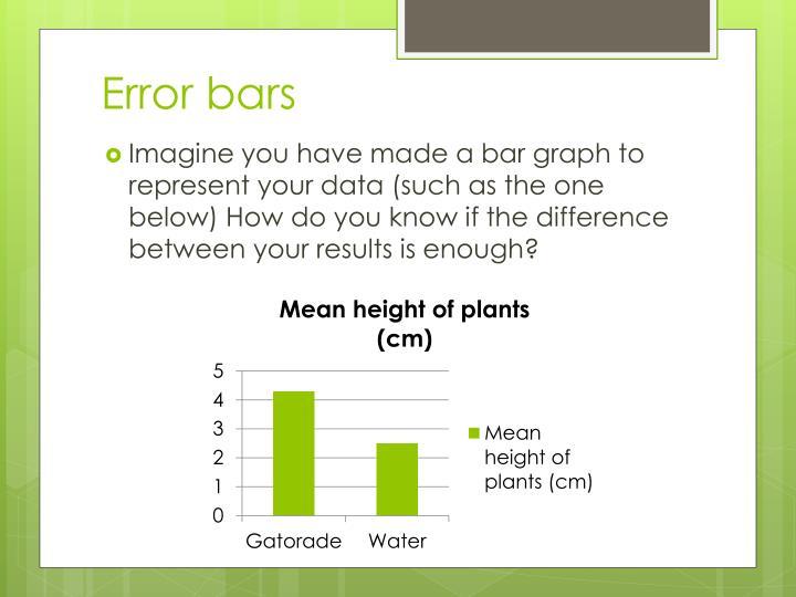 Error bars