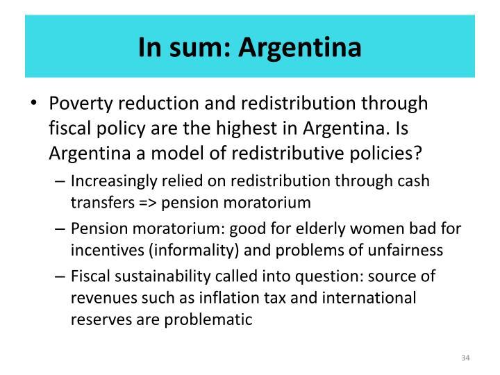 In sum: Argentina