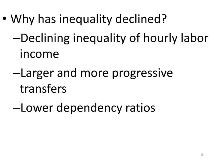Why has inequality declined?