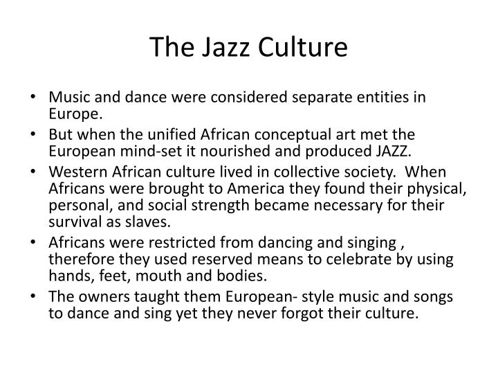 The Jazz Culture