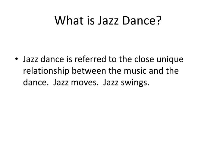 What is jazz dance