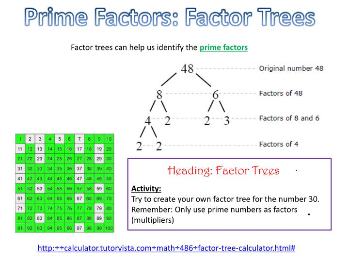 Prime Factors: Factor Trees