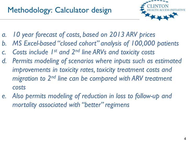 Methodology: Calculator design