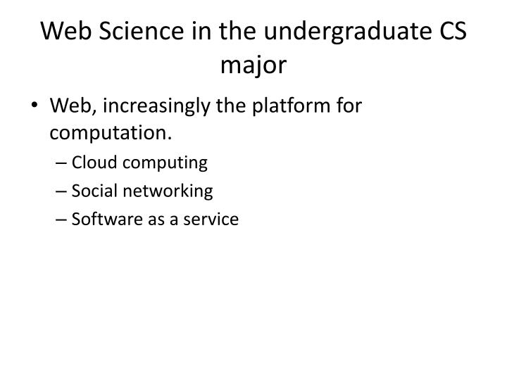 Web Science in the undergraduate CS major
