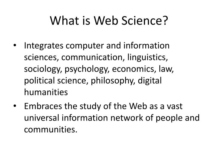 What is web science