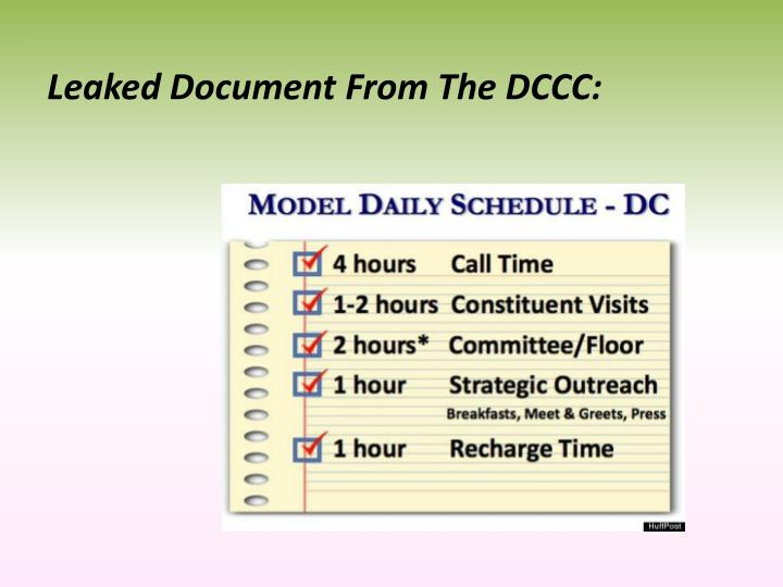 Leaked Document From The DCCC: