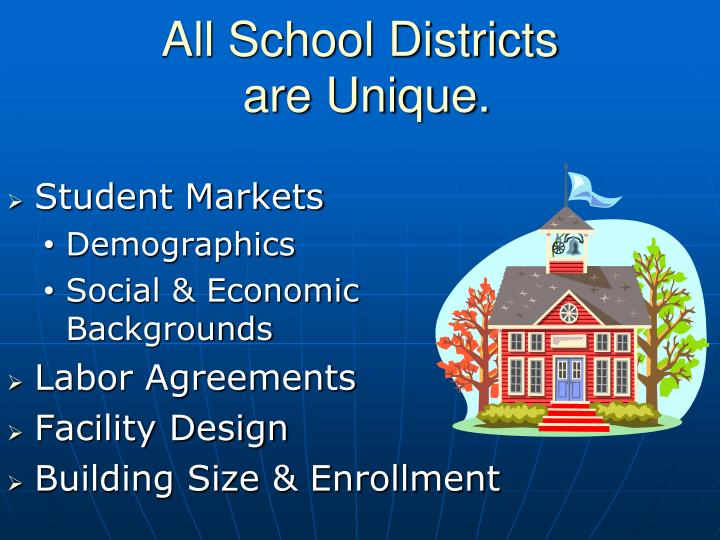 All school districts are unique