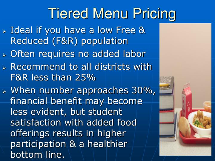Tiered Menu Pricing
