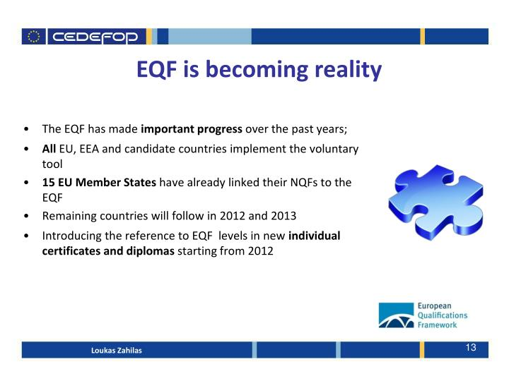 EQF is becoming reality