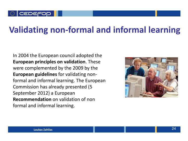 Validating non-formal and informal learning