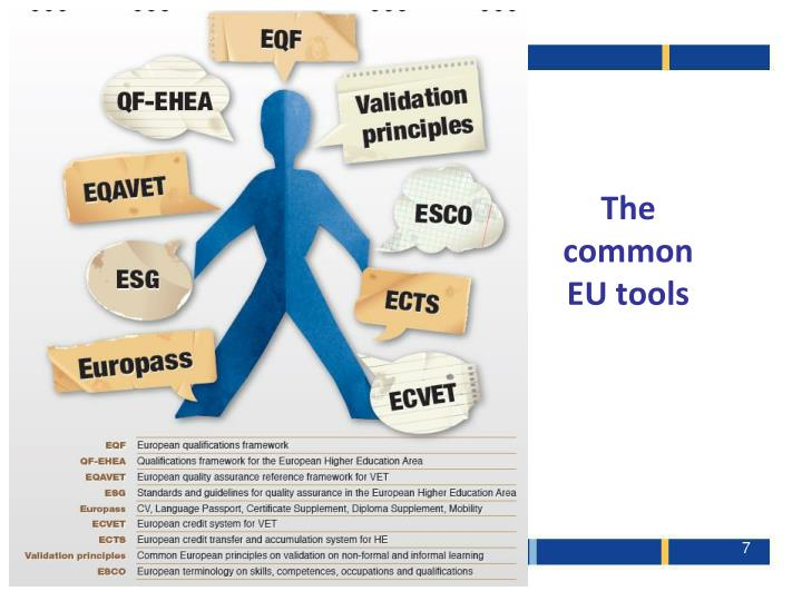 The common EU tools