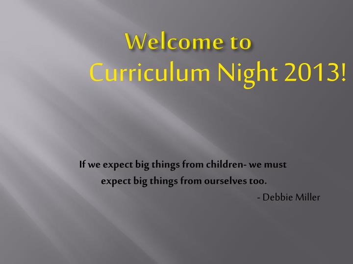 curriculum night 2013 n.