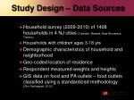 study design data sources